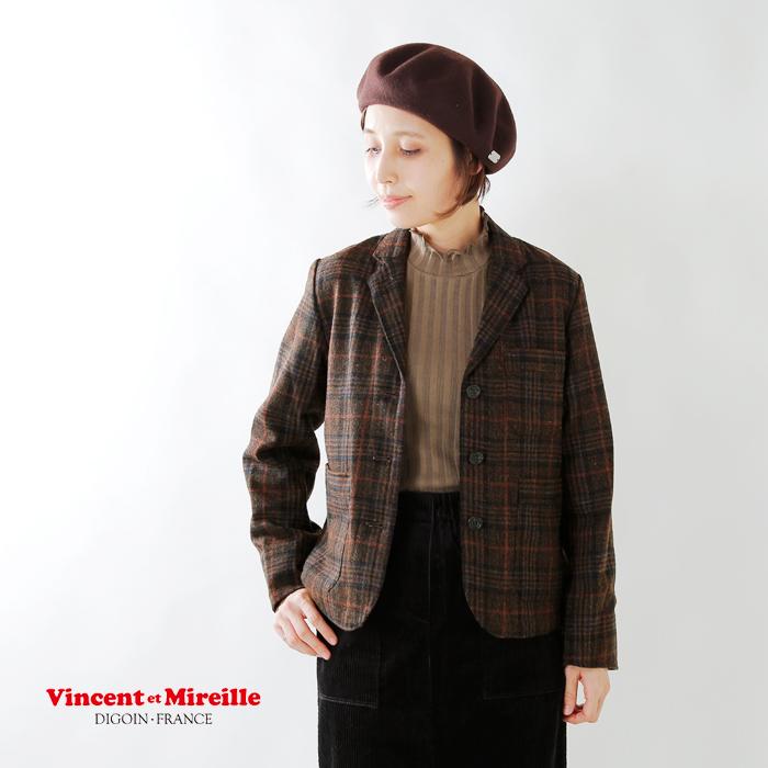 Vincen et Mireille(ヴァンソン エ ミレイユ)ウールサーモライトカバーオールジャケット vm182wt25012