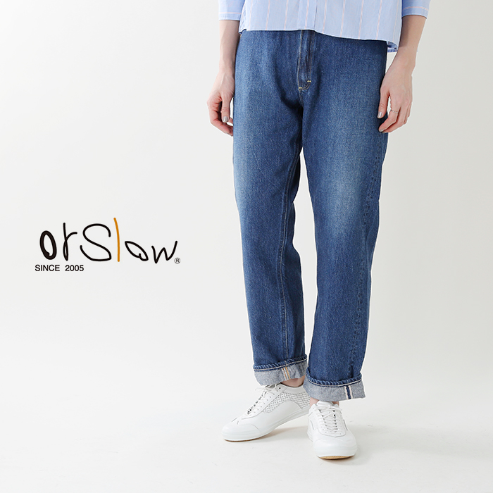 "orslow(オアスロウ)ハイライズデニムパンツ""JASMINE""00-1040-19800"