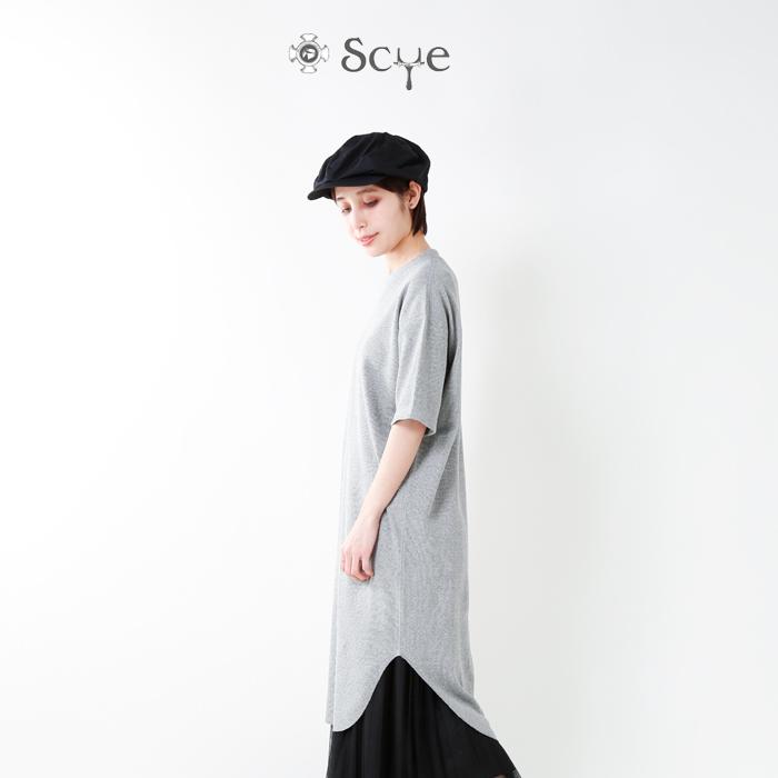 Scye(サイ)スーピマドライワッフルロングTシャツ 1218-21110