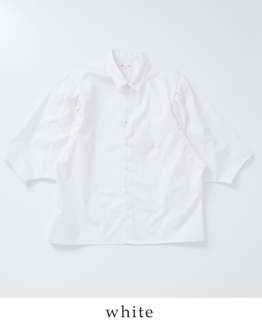 HAVERSACK(ハバーサック)140/2高密度ツイルコットンボリュームスリーブシャツ621802