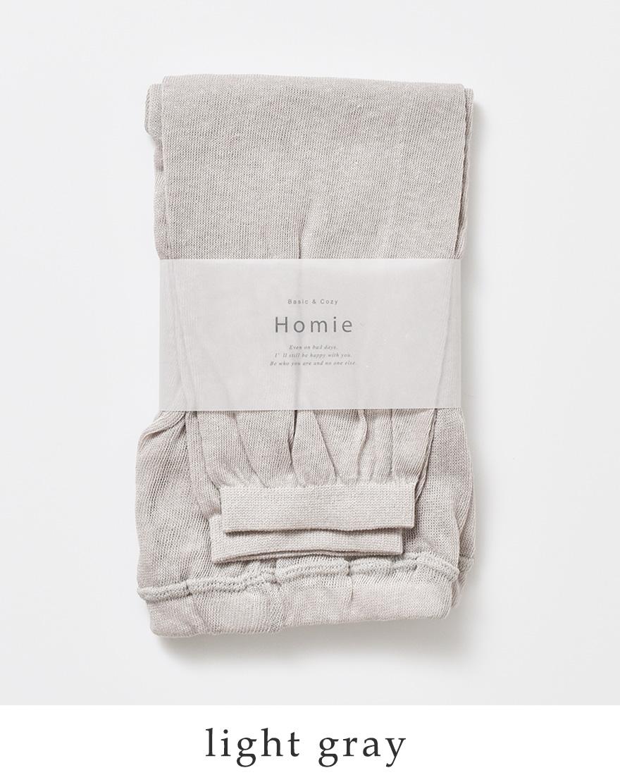Homie(ホミー)コットンリネンサマーレギンスhl-002