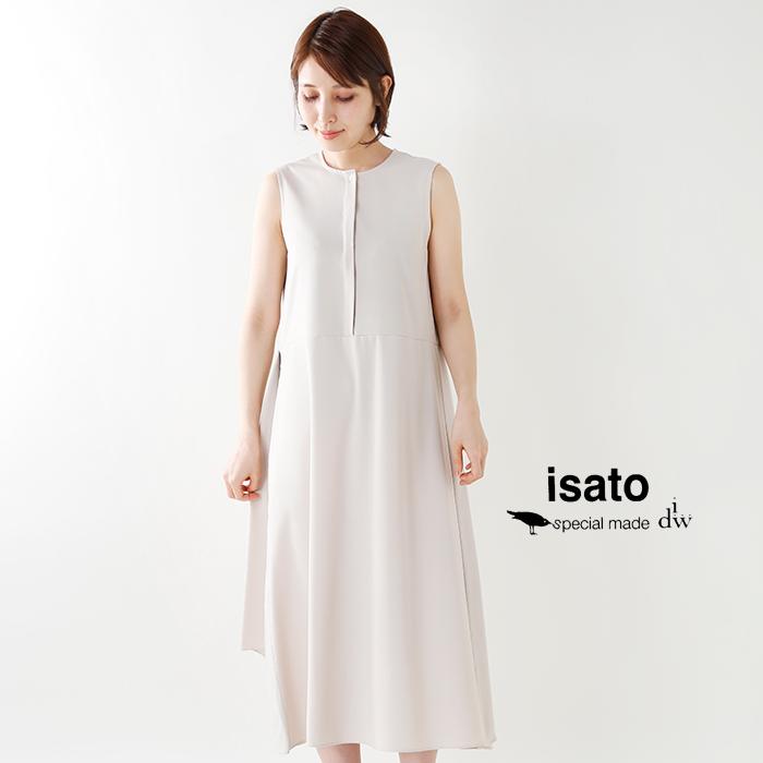 ISATOdesign(イサトデザイン)ノースリーブバックフレア—ワンピースilo-30504