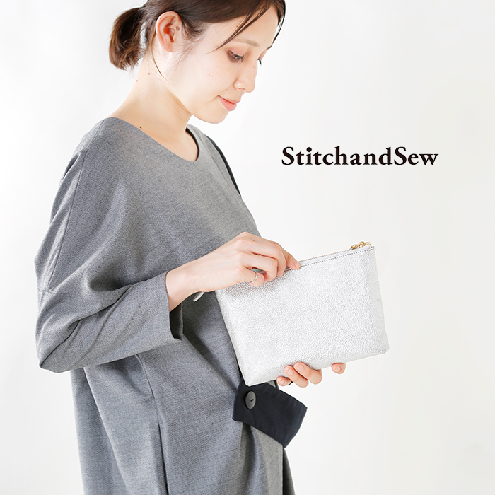 StitchandSew(スティッチアンドソー)カウレザーポーチ ph100-101