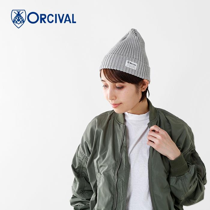 ORCIVAL(オーチバル・オーシバル)コットンリブニット帽rc-7109sjn