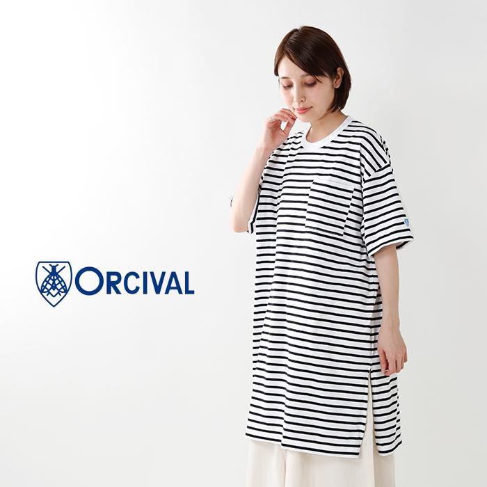 ORCIVAL(オーチバル・オーシバル)半袖ポケット付きミドル丈プルオーバーrc-9119