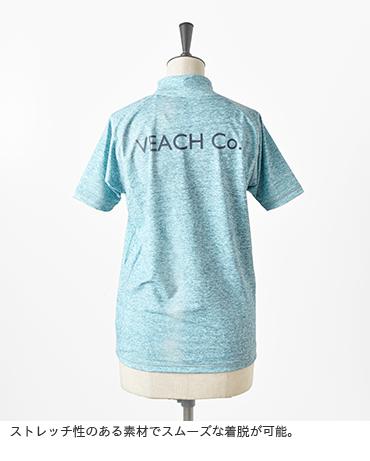 VEACH Co.(ビーチコー)プリントショートスリーブラッシュガード v-rg-01