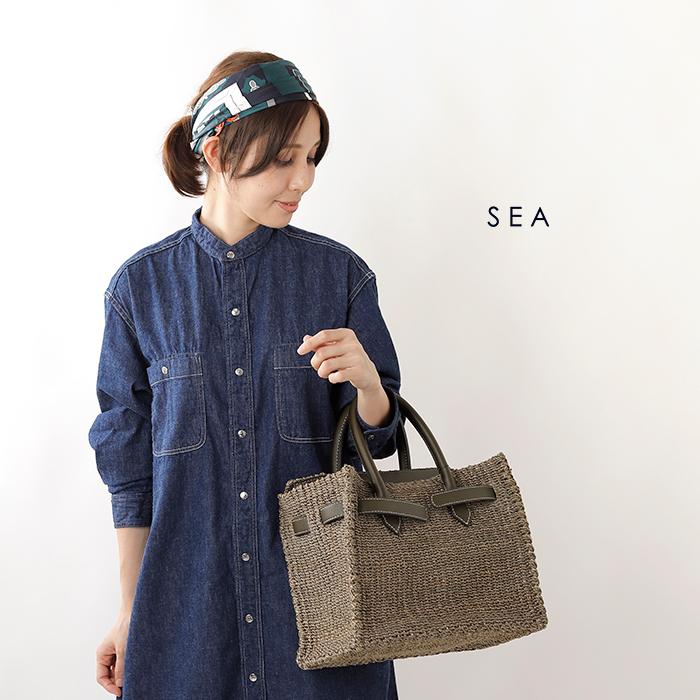 SEA(シー)アバカかごバッグM 110519226