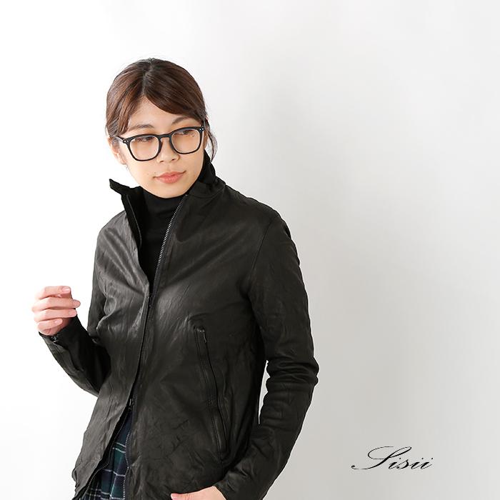 Sisii(シシ)カウレザーシングルライダースジャケット 12092001