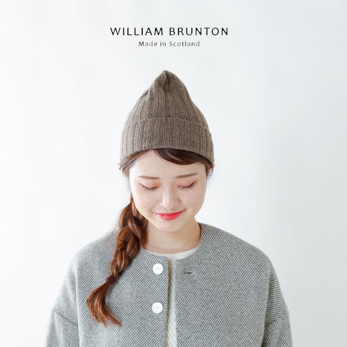 WILLIAM BRUNTON(ウィリアムブラントン)aranciato別注 100%カシミヤリブニット帽 135