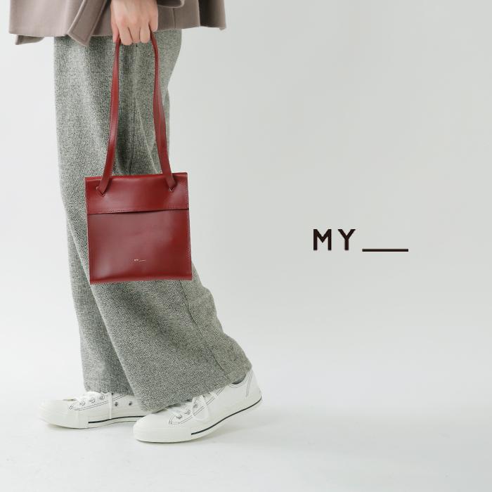 MY(マイ)カウレザー2wayボックスバッグ