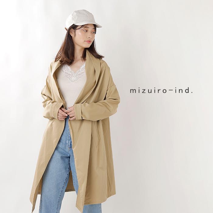 mizuiro-ind(ミズイロインド)ドレープロングカーディガンコート 3-278623