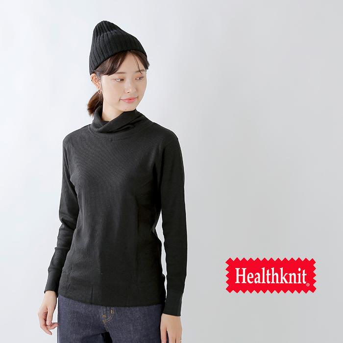 Healthknit(ヘルスニット)ベーシックワッフルタートルネックロングスリーブプルオーバー 606l