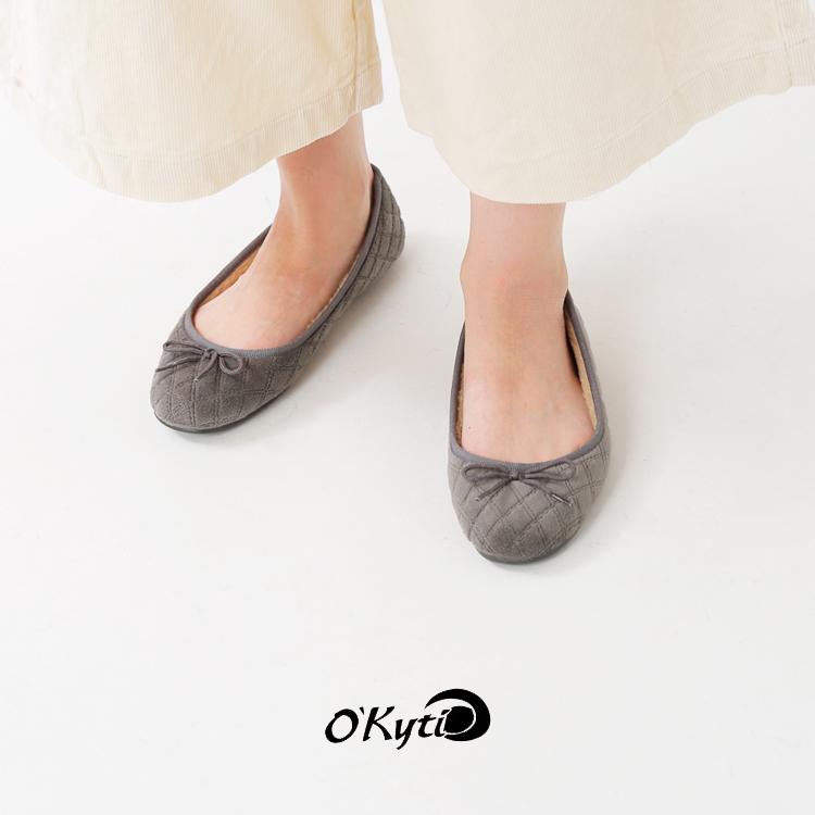 OKYTI(オキティ)ボアライニング&キルティングバレエシューズ 6500-lazo-4700