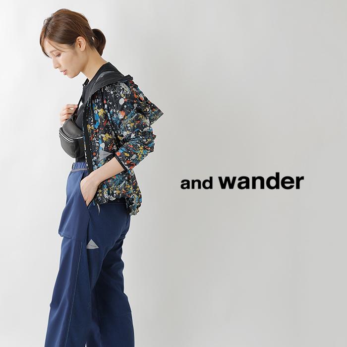 and wander(アンドワンダー)エアホールドワイドパンツ aw93-ff083