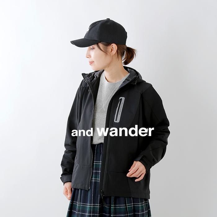 and wander(アンドワンダー)ストレッチシェルジャケット aw93-ft001
