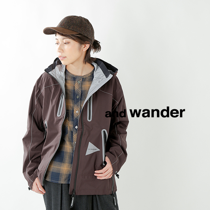 "and wander(アンドワンダー)ダブルリップストップナイロンイーベントジャケット""e vent jacket"" aw93-ft607"