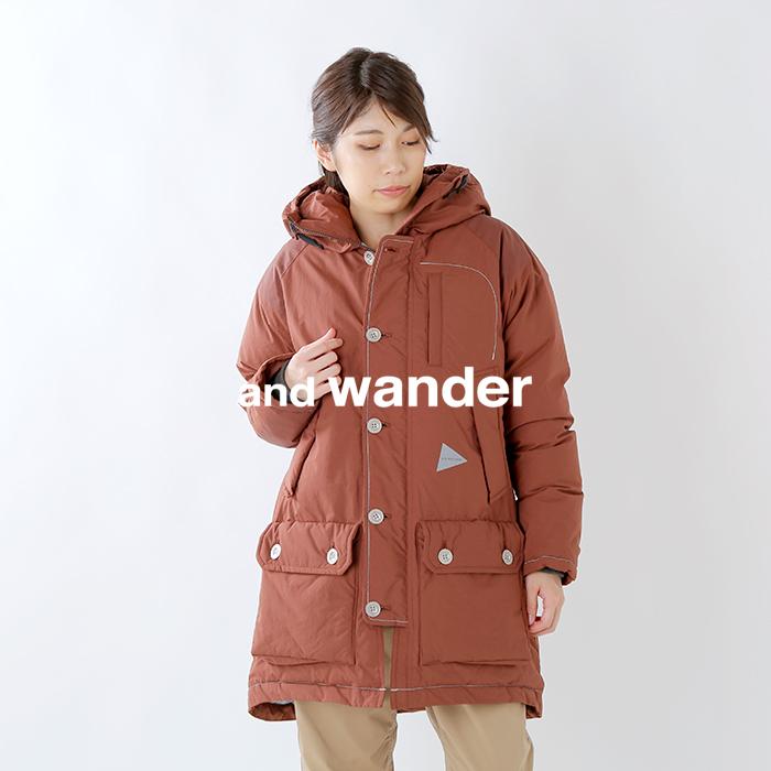 and wander(アンドワンダー)タフダウンコート aw93-ft642