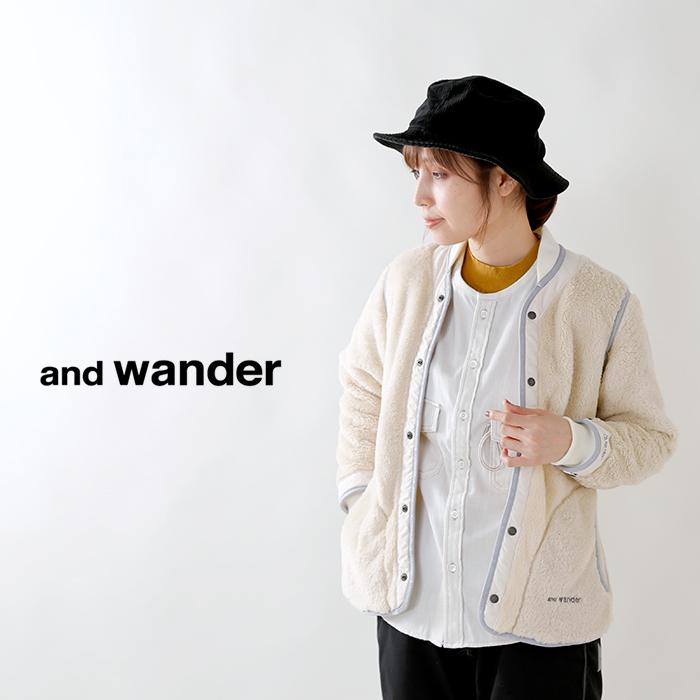 and wander(アンドワンダー)ライニングフリースジャケット aw93-jt024