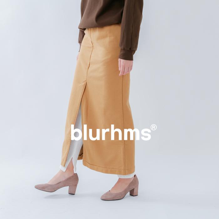 blurhms(ブラームス)ソフトアンドハードスウェットスリットスカート bhs-rkaw19lay03