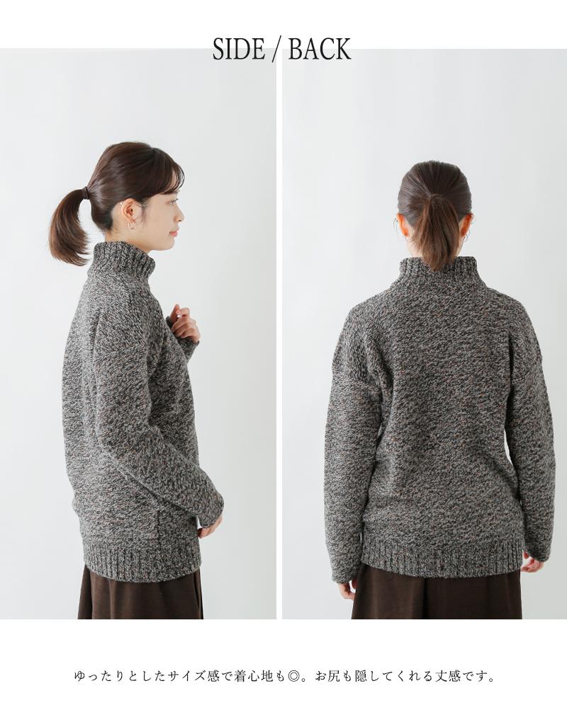 MACALASTAIR(マカラスター)ハイネックニットセーター brickrow-ladies