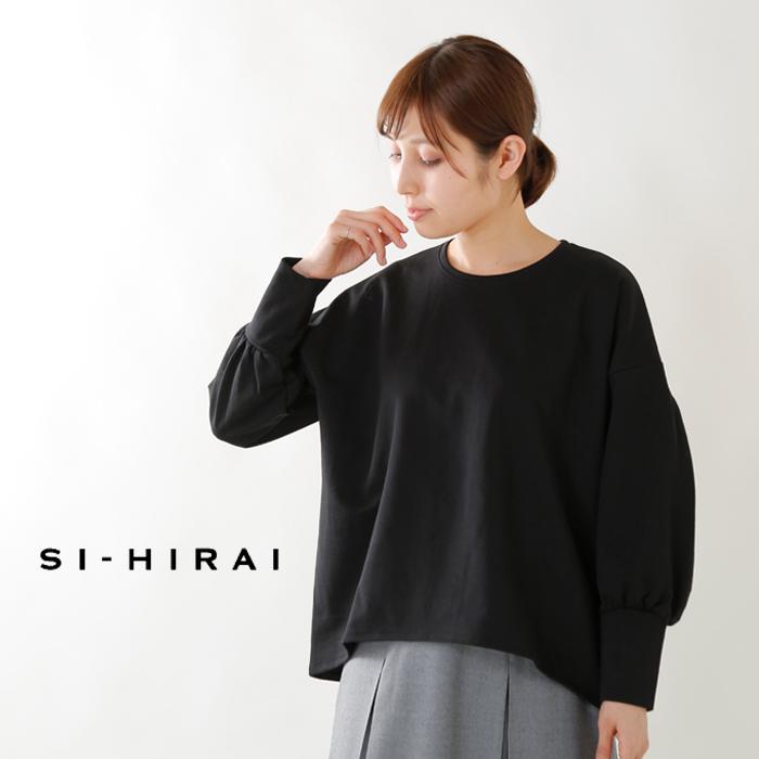 SI-HIRAI(スーヒライ)ツリークォーターズコットンバルーンスリーブTシャツchaw19-3803