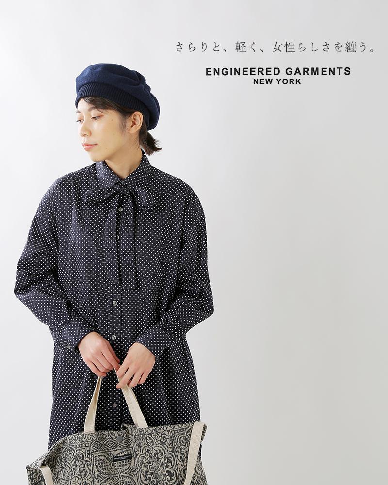 """ENGINEEREDGARMENTS(エンジニアドガーメンツ)ポルカドットブロードクロスシャツドレス""""BDShirtDress""""fg362"""
