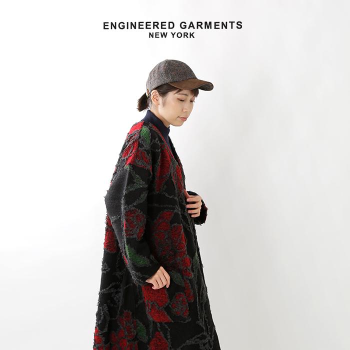 FWK by ENGINEEREDGARMENTS(エフダブリューケー バイ エンジニアド ガーメンツ)フローラルニットジャガードカシュクールドレス fg386