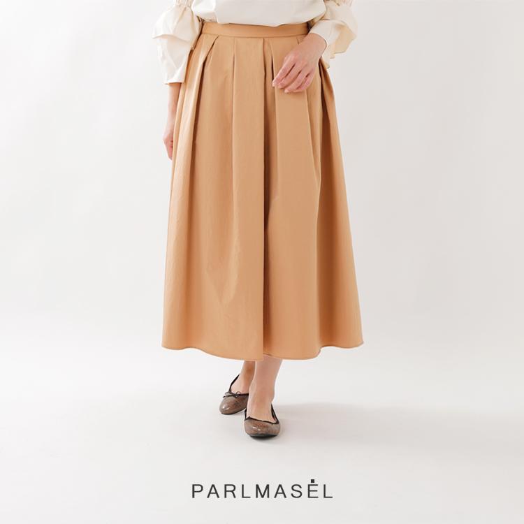 PARLMASEL(パールマシェール)撥水加工タックフレアスカート l-9216