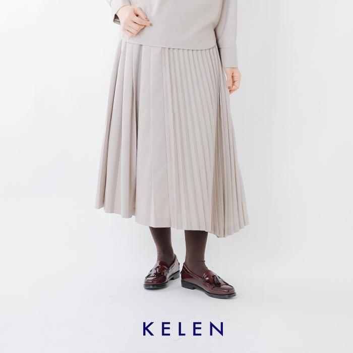 "kelen(ケレン)プリーツアシンメトリースカート""Asry"" lkl19fsk1"