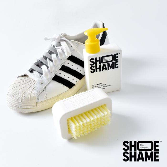 SHOE SHAME(シューシェイム)クリーニングジェル&ダブルサイドブラシ オールインワンキット lose-the-dirt-kit
