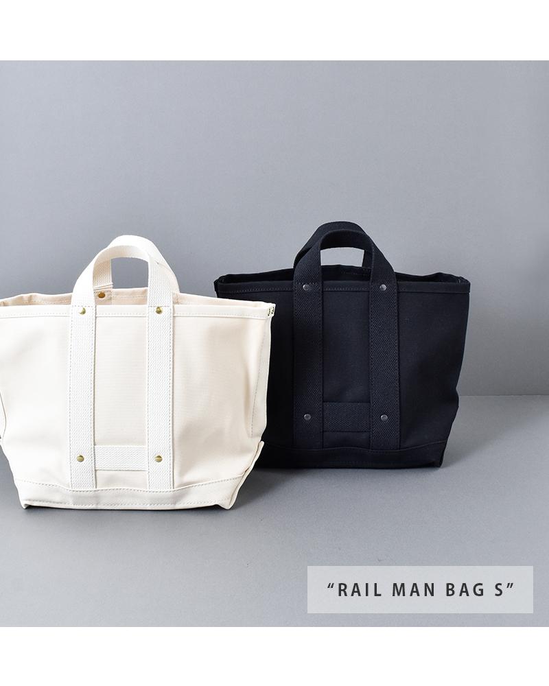 """MASTER&Co.(マスターアンドコー)コットンミニトートバッグ""""RAIL MAN BAG S"""""""