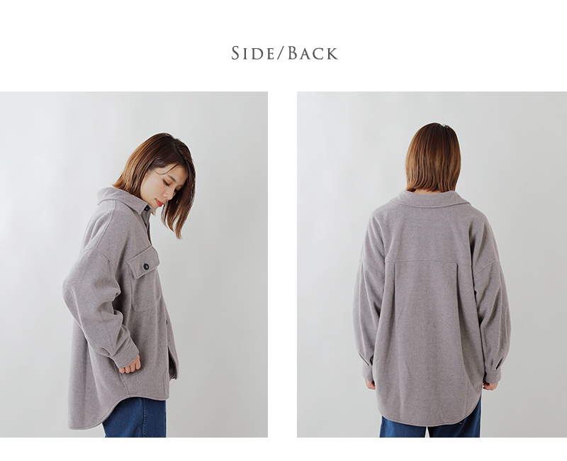 kha:ki(カーキ)ビッグCPOシャツジャケット mil-19fjk126