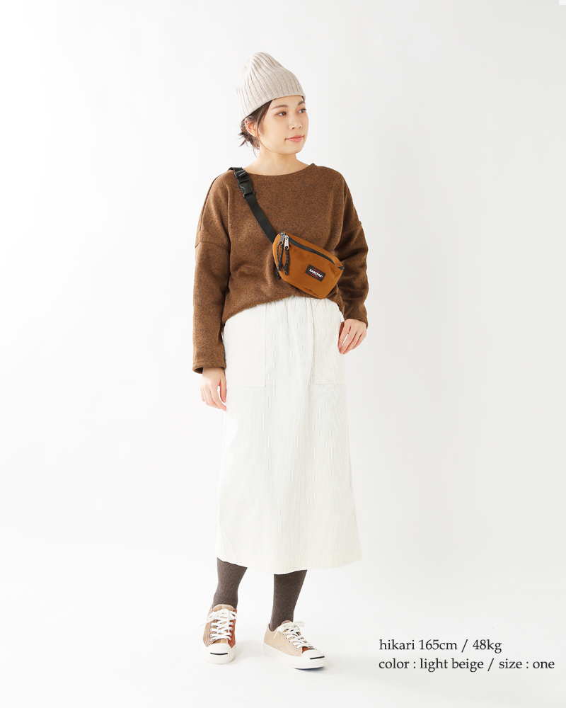 "mature ha.(マチュアーハ)ウールニットキャップ""slant cutting knit cap lamb"" mk-2133"