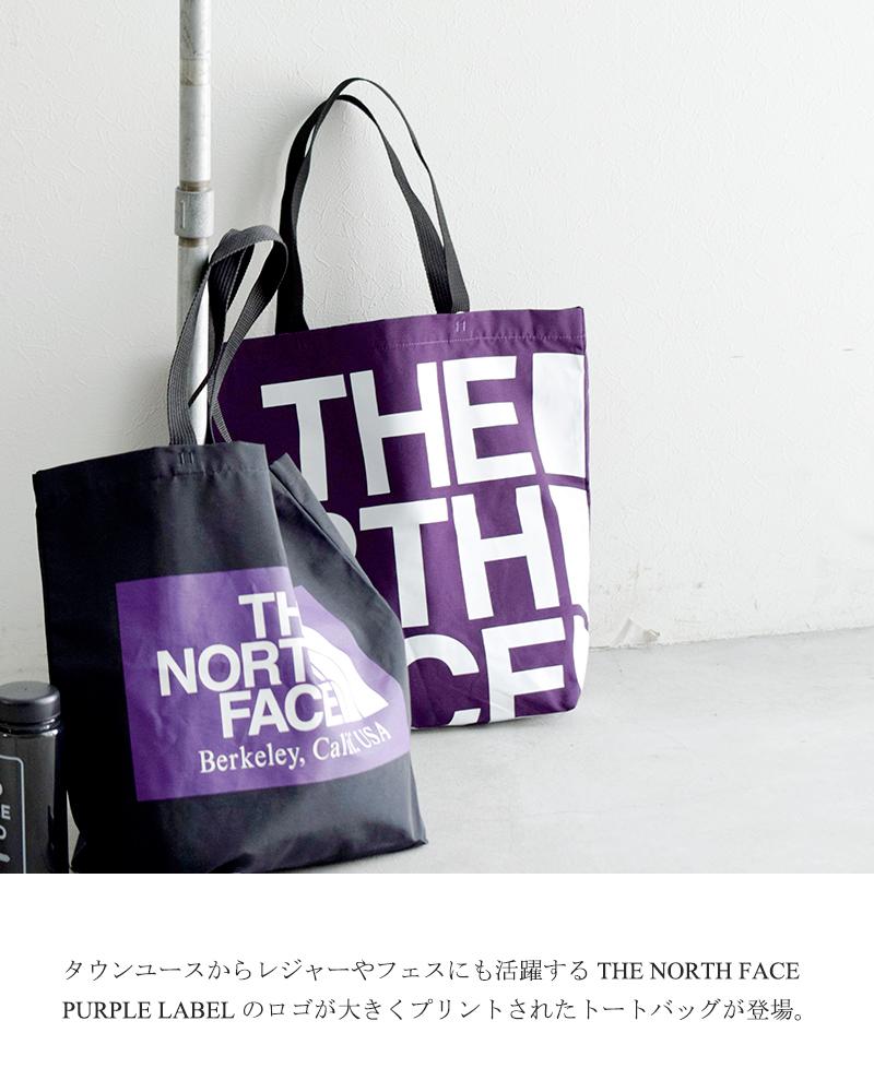 THE NORTH FACE PURPLE LABEL(ノースフェイスパープルレーベル)コットンナイロングログランロゴプリントトートバッグ nn7954n