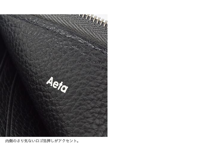 """Aeta(アエタ)カウレザーL字ジップウォレット""""WALLETtypeB""""pg16"""