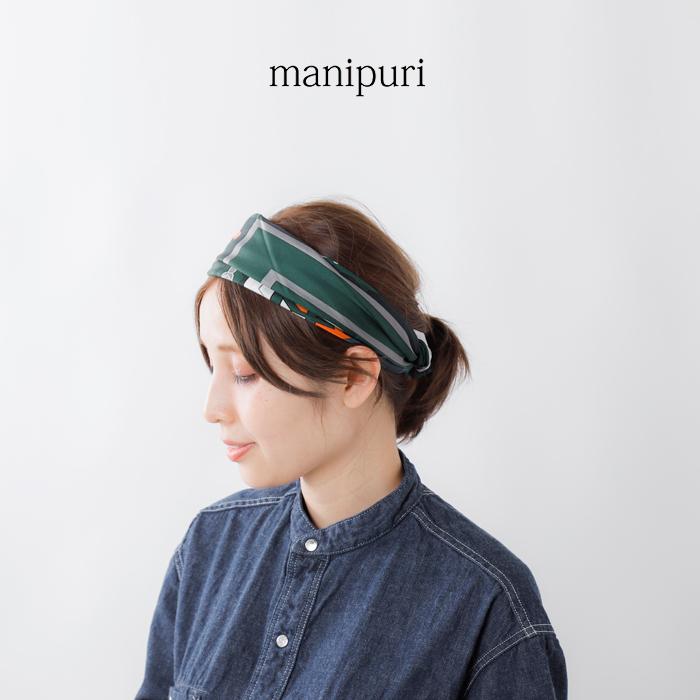 manipuri(マニプリ)シルクプリントスカーフ purfumeparadisemosaic