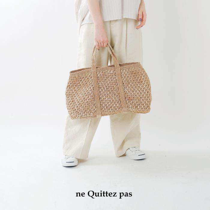 ne Quittez pas(ヌキテパ)メタリックマクラメトートバッグL 012091732o