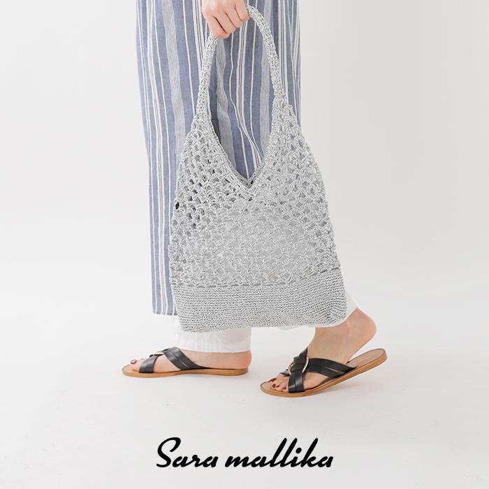SaraMallika(サラマリカ)メタリックマクラメトートバッグ022091654o