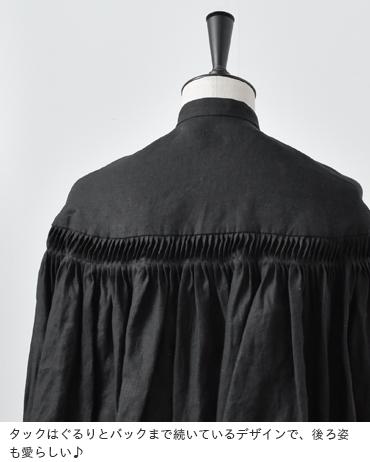 Scye(サイ)リネン高密度長袖タックシャツ 1219-31028