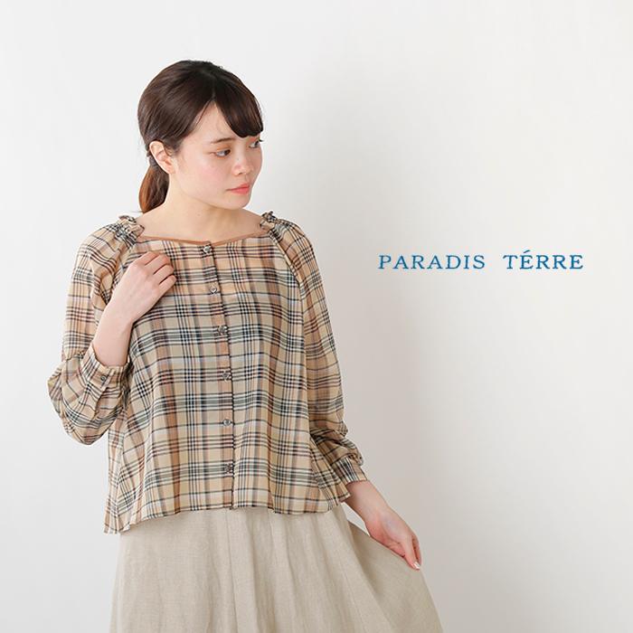 PARADIS TERRE(パラディテイル)シアーチェックブラウス 791306