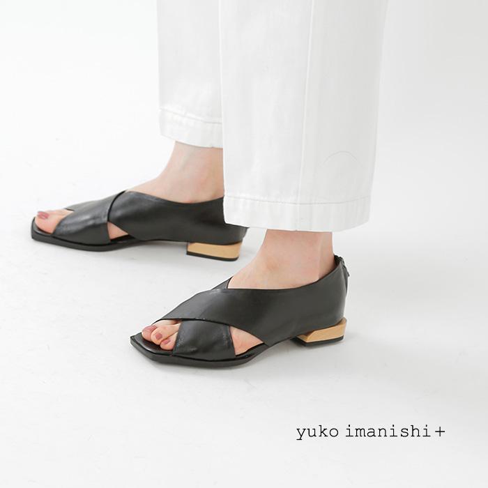 yukoimanishi+(ユウコイマニシプラス)キッドレザーオープントゥパンプス792014