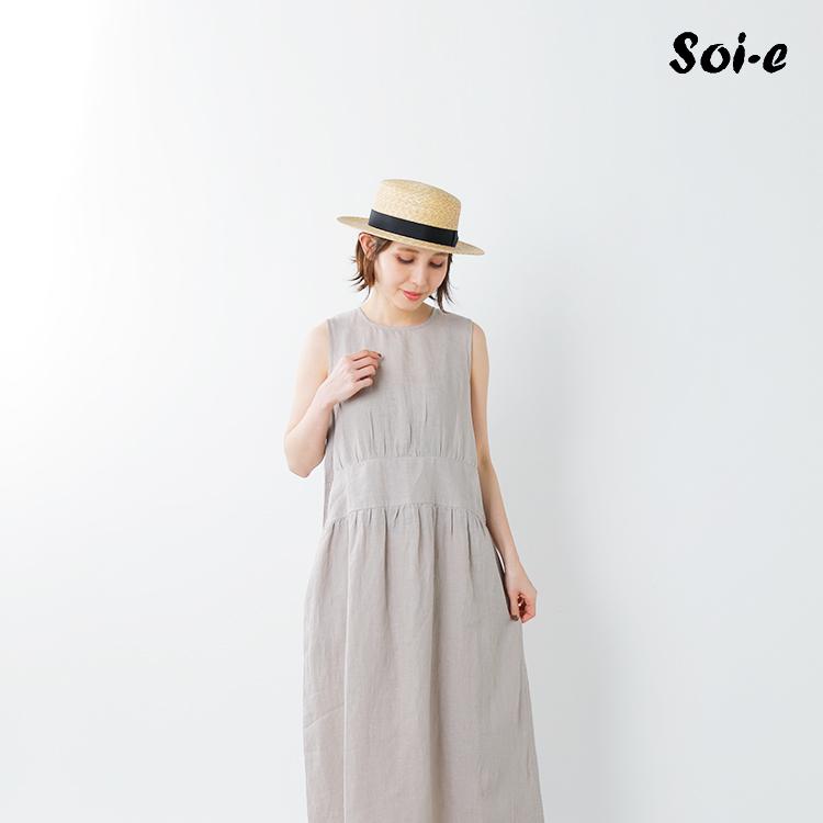 soi-e(ソア)aranciato別注リネンノースリーブワンピース 820692