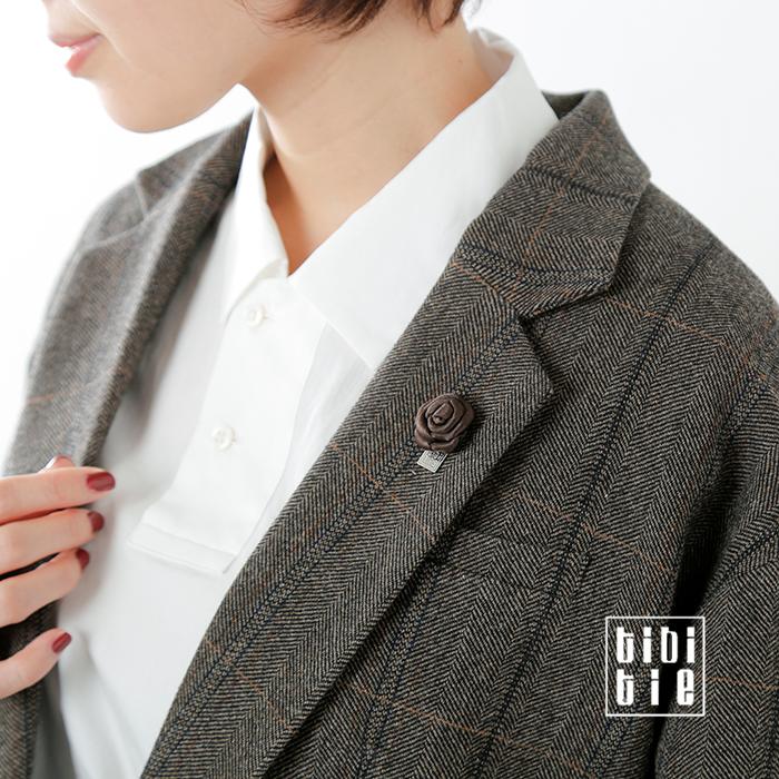 tibitie(チビタイ)ローズ型ラペルピンブローチ as-0113-40