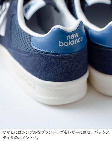 new balance(ニューバランス)スエード×メッシュテニススタイルシューズ crt300