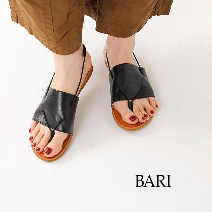 BARI(バリ)レザートングフラットサンダル kira35