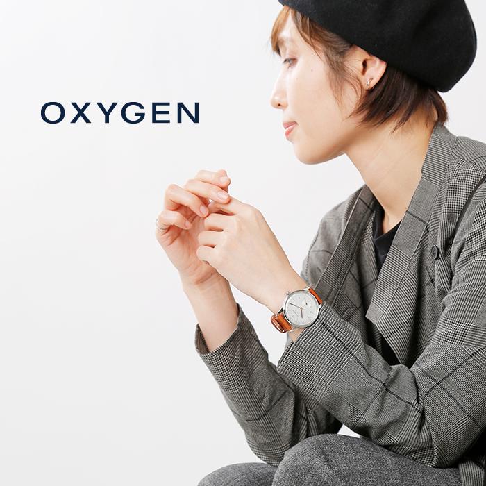 "OXYGEN(オキシゲン)リミテッドモデルレザーベルトシルバーフレームウォッチ""CityLegend40""l-c-osc-mar-ric-400"