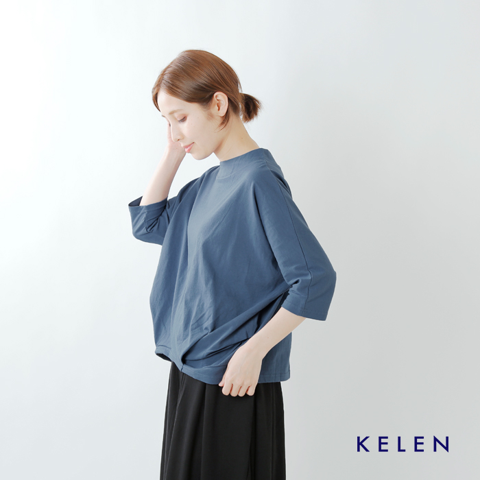 """kelen(ケレン)コットンシングルジャージーヘムタックプルオーバー""""Ojya"""" lkl19sbl16"""
