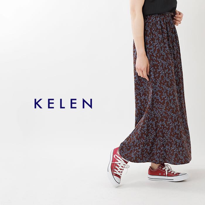 """kelen(ケレン)ヴィンテージフラワープリントギャザースカート""""Frey"""" lkl19ssk5"""