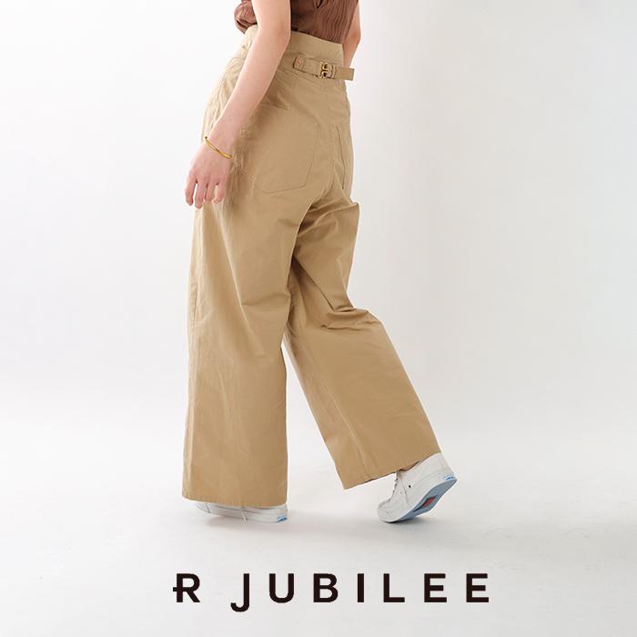 R JUBILEE(アール ジュビリー)タックチノワイドパンツ rj19039014