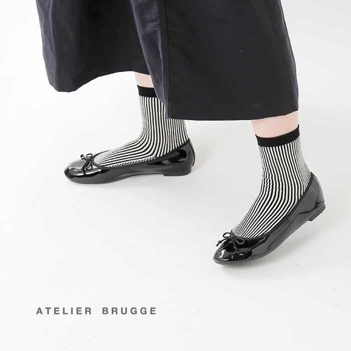 atelierbrugge(アトリエブルージュ)ケース付きレインバレエシューズrl-004